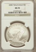 Modern Issues, 2008-P $1 Bald Eagle MS70 NGC. NGC Census: (6500). PCGS Population(842). Numismedia Wsl. Price for problem free NGC/PCGS ...