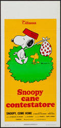 "Movie Posters:Animation, Snoopy, Come Home! (Titanus, 1972). Italian Locandina (13"" X 27.5""). Animation.. ..."