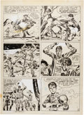Original Comic Art:Panel Pages, Joe Simon and Jack Kirby Boys' Ranch #1 (slated for reprintin Western Tales #31) Story Page 4 Origina...