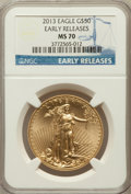 Modern Bullion Coins, 2013 $50 One-Ounce Gold Eagle, Early Releases MS70 NGC. NGC Census:(0). PCGS Population (1714)....