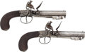 Handguns:Muzzle loading, Scarce Pair of English Spring-Loaded Bayonet Pocket Pistols by E.Bond, 45 Cornhill, London.... (Total: 2 Items)