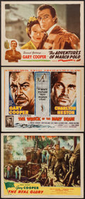 """Movie Posters:War, The Real Glory and Others Lot (United Artists, 1939). Title LobbyCard & Lobby Cards (2) (11"""" X 14""""). War.. ... (Total: 3 Items)"""
