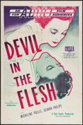 "Movie Posters:Drama, Devil in the Flesh (AFE, 1949). One Sheet (27"" X 41""). Drama.. ..."