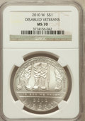 Modern Issues, 2010-W $1 Disabled Veterans MS70 NGC. NGC Census: (3229). PCGSPopulation (1461). Numismedia Wsl. Price for problem free N...