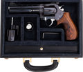 Handguns:Double Action Revolver, Cased Korth White Plate Special .357 Magnum Double Action Revolver with Extra Interchangeable Factory Cylinder Chambered for 9...