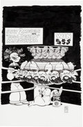 Original Comic Art:Covers, Dave Sim Popeye #12 Variant Cover Original Art and SignedComics Group (IDW, 2013).... (Total: 6 Items)