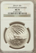 Modern Issues, 2012-P $1 Star-Spangled Banner MS70 NGC. NGC Census: (0). PCGSPopulation (259)....