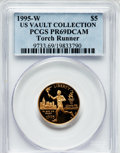 Modern Issues, 1995-W G$5 Olympic/Torch Runner Gold Five Dollar PR69 Deep CameoPCGS. Ex: U.S. Vault Collection. PCGS Population (2433/154...