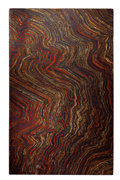 Lapidary Art:Tables / Tabletops, SPECTACULAR AND COLORFUL TIGER IRON TABLETOP . Ord Ranges, Pilbara, Western Australia. ...