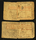 Colonial Notes:New Jersey, New Jersey April 8, 1762 15s Good-Very Good. New Jersey April 12, 1760 30s Good-Very Good.. ... (Total: 2 notes)