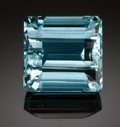 Gems:Faceted, FINE GEMSTONE - AQUAMARINE - 20.63 CT. - No origin documented-. ...