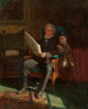 EASTMAN JOHNSON (American, 1824-1906) Portrait of John C. Chandler and Philip J. Wilson Oil on canvas 21 x 17 inches...