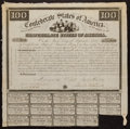 Confederate Notes:Group Lots, Ball 3 Cr. 6 $100 1861 Bond Fine.. ...