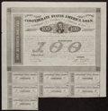 Confederate Notes:Group Lots, Ball 166 Cr. 123A $100 Bond 1863 Fine.. ...