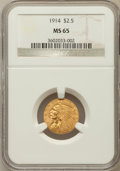 Indian Quarter Eagles: , 1914 $2 1/2 MS65 NGC. NGC Census: (46/3). PCGS Population (50/3). Mintage: 240,000. Numismedia Wsl. Price for problem free ...