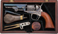 Handguns:Muzzle loading, Scarce Cased Colt Model 1849 Pocket Percussion Revolver....