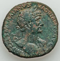 Ancients:Roman Imperial, Ancients: ROMAN EMPIRE. Hadrian (AD 117-138). Orichalcum sestertius (27.28 gm). ...