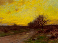 BRUCE CRANE (American, 1857-1937) Sunrise Oil on canvas 9 x 12 inches (22.9 x 30.5 cm) Signed