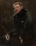 Fine Art - Painting, American:Antique  (Pre 1900), FREDERICK PORTER VINTON (American, 1846-1911). Portrait of aGentleman. Oil on canvas laid on cradled masonite panel. 29...