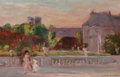 Paintings, FREDERICK CARL SMITH (American, 1868-1955). Luxembourg Gardens, Paris, France. Oil on panel. 6-1/4 x 9-1/2 inches (15.9 ...
