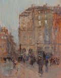 Paintings, EDWIN FRANK SCOTT (American, 1862-1929). A Gray Day in Paris. Oil on beveled panel. 13-3/4 x 10-1/2 inches (34.9 x 26.7 ...