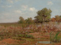 Fine Art - Painting, European:Antique  (Pre 1900), PETER EDWARD RUDELL (Canadian/American, 1854-1899). Edge of aMarsh. Oil on canvas board. 16 x 22 inches (40.6 x 55.9 cm...
