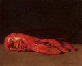 Fine Art - Painting, American:Antique  (Pre 1900), R.D. RICHARDSON (American, 19th Century). Still Life ofLobster. Oil on canvas. 12 x 15 inches (30.5 x 38.1 cm). Signed...