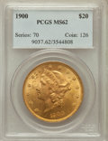 Liberty Double Eagles, 1900 $20 MS62 PCGS. PCGS Population (12833/15086). NGC Census:(17077/21295). Mintage: 1,874,584. Numismedia Wsl. Price for...