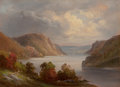 Fine Art - Painting, American:Antique  (Pre 1900), HUDSON RIVER SCHOOL (American, 19th Century). On the Hudson.Oil on artists' board. 6 x 8 inches (15.2 x 20.3 cm). Title...