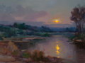 American, OVANES BERBERIAN (American, b. 1951). Moonlit Night. Oil oncanvas. 30 x 40 inches (76.2 x 101.6 cm). Signed lower right...