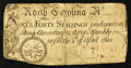 Colonial Notes:North Carolina, North Carolina April 4, 1748 40s Very Good.. ...