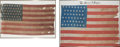Miscellaneous:Ephemera, Forty-Five Star and a Forty-Eight Star United States Flags....(Total: 2 Items)