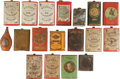 Arms Accessories:Flasks, Lot of 18 Antique Gunpowder Cans.... (Total: 18 Items)