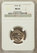 Buffalo Nickels: , 1919 5C MS64 NGC. NGC Census: (450/231). PCGS Population (642/540).Mintage: 60,868,000. Numismedia Wsl. Price for problem ...