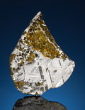 Meteorites:Palasites, COMPLETE SLICE OF A TRANSITIONAL SEYMCHAN METEORITE -AESTHETICEXAMPLE WITH EXTRATERRESTRIAL GEMSTONES. Pallasite - PMG ...