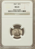 Three Cent Nickels: , 1867 3CN MS65 NGC. NGC Census: (35/12). PCGS Population (49/12).Mintage: 3,915,000. Numismedia Wsl. Price for problem free...