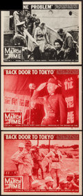 "Movie Posters:Documentary, The March of Time (20th Century Fox, 1944-1945). Lobby Cards (3) (11"" X 14"") Volume 10 Number 11 -- ""Back Door to Tokyo"" & V... (Total: 3 Items)"