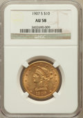 Liberty Eagles: , 1907-S $10 AU58 NGC. NGC Census: (0/0). PCGS Population (45/120).Mintage: 210,500. Numismedia Wsl. Price for problem free ...