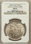 Morgan Dollars: , 1890-O $1 MS62 NGC. Weak Comet Vam-10A, Hot-50. NGC Census:(1147/6280). PCGS Population (1683/7813). Mintage: 10,701,000. ...