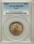 Standing Liberty Quarters: , 1917 25C Type One MS64 Full Head PCGS. PCGS Population (1692/1436).NGC Census: (1285/1103). Mintage: 8,740,000. Numismedia...