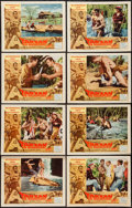 "Movie Posters:Adventure, Tarzan the Magnificent (Paramount, 1960). Lobby Card Set of 8 (11""X 14""). Adventure.. ... (Total: 8 Items)"