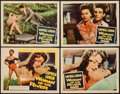"Movie Posters:Drama, Woman of the River (Columbia, 1957). Title Lobby Card & Lobby Cards (3) (11"" X 14""). Drama.. ... (Total: 4 Items)"