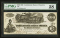 Confederate Notes:1862 Issues, T39 $100 1862 PF-9 State 1, Cr. 291.. ...