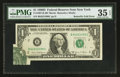 Error Notes:Foldovers, Fr. 1907-B $1 1969D Federal Reserve Note. PMG Choice Very Fine 35EPQ.. ...