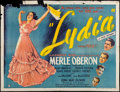 "Movie Posters:Romance, Lydia (United Artists, 1941). British Quad (30"" X 40""). Romance....."