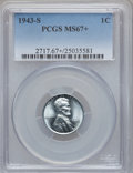 Lincoln Cents: , 1943-S 1C MS67+ PCGS. PCGS Population (1638/52). NGC Census:(1994/13). Mintage: 191,550,000. Numismedia Wsl. Price for pro...
