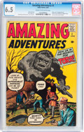 Silver Age (1956-1969):Horror, Amazing Adventures #1 (Marvel, 1961) CGC FN+ 6.5 Cream to off-whitepages....