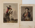 Books:Prints & Leaves, George Washington. Group of 2 Engraved Prints with Hand-Coloring.Various sizes. Very good....