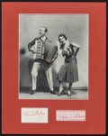 """Movie Posters:Miscellaneous, Fred Astaire & Adele Astaire Douglass (1968). Autographs (2) (3"""" X 5"""", 4"""" X 6.25""""). Miscellaneous.. ..."""