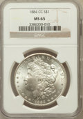 Morgan Dollars: , 1884-CC $1 MS65 NGC. NGC Census: (4045/1031). PCGS Population(7065/1531). Mintage: 1,136,000. Numismedia Wsl. Price for pr...